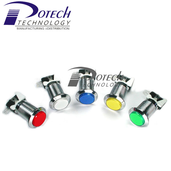 Hot sell chrome arcade game push button led illuminated microswitch button