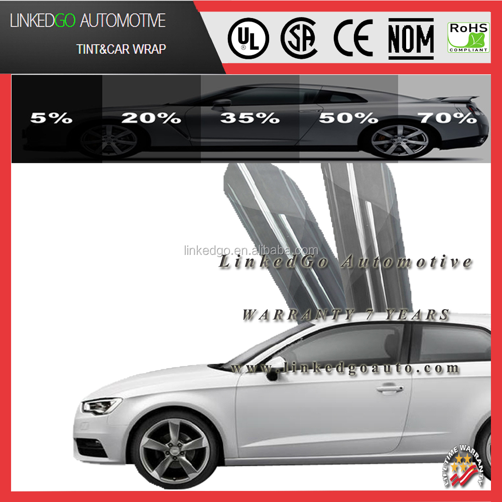Hot car windows accessory Korea PET material 2ply 1.52*30m car window tinting film