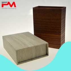 Matte Woodgrained Paper Gift Cardboard Box