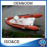 2016 popular china 520 rib pvc inflatable boat with complete accessories for sale