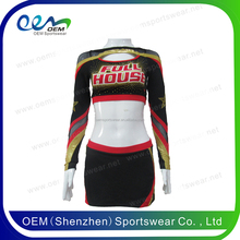 2017 new style Custom sublimated cheerleading uniforms