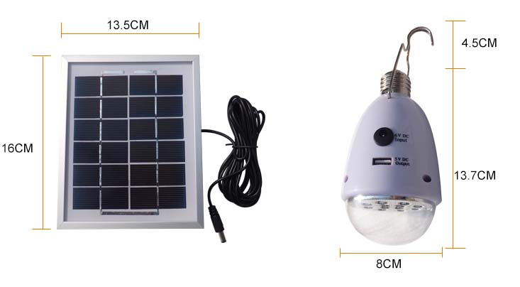 New green energy portable solar power panel system for home lighting