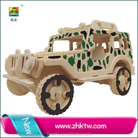 Hot sale educational toy china wooden puzzle gift best puzzles for boys car wooden model