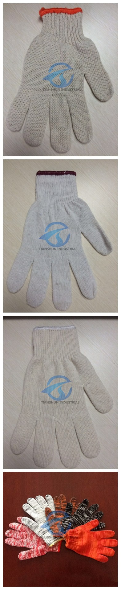 High Quality Cheaper Working Gloves Hand Protect Cotton Knitted Gloves