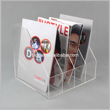 Transparent acrylic table file cabinet magazine organizer rack