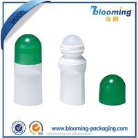 75ml B1001 plastic roll on perfume bottle with dome cap