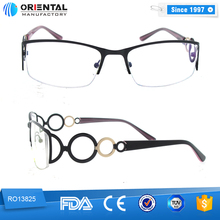 Eye-catching Have a sense of Design Half Metal Frame Optical