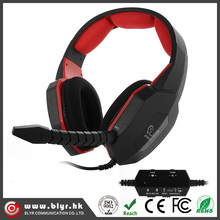 Best selling wired computer 4 in 1 gaming headset with USB2.0 sound card for ps3 ps4