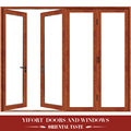 Custom size modern wood double swing glass door designs