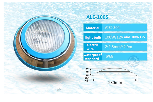 18w IP68 remote control led swimming pool light led underwater light par 56 RGB led 12V