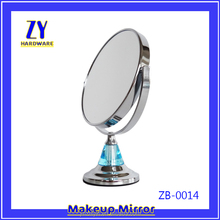 Silver metal framed cosmetic small mirror
