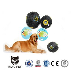 Customised pet snack ball with food for leakage rubber ball dog toy pet toy