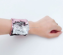 Personalized Monogram Sequin Mermaid Bracelet Magic Reversible Sequin Bangles Bracelet For Women