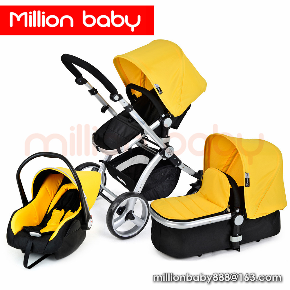 Toddler pushchairs 3 in 1 car seat with baby all terrain strollers carrinho de bebe