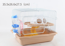 Small Animals Cage Luxury Double Layer Hamster Cage With Water Bottle