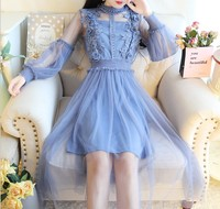 zm41738c 2018 woman dress autumn female dresses Korean lady dress