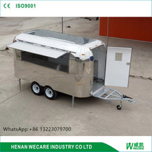 Stainless steel high quality food truck 8 cart mobile kitchen trailer/catervan/van