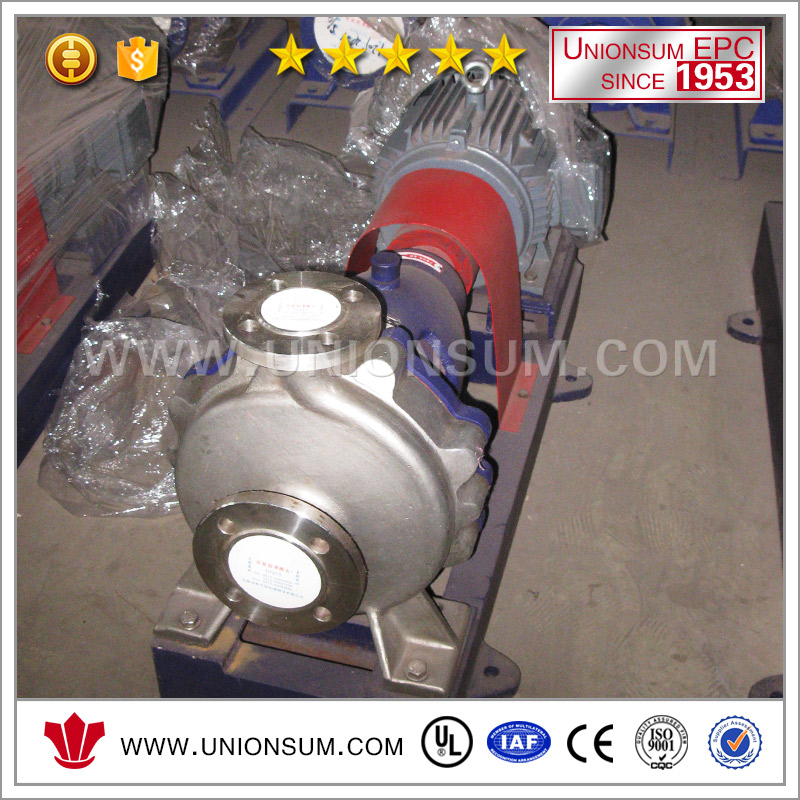 China Produced Copper Industry Sulfuric Acid Application Circulating Plastic Lined Slurry Pumps