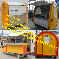 mobile food cart trucks/snack food cart for sale