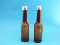 long and thin wine shape bottle for tomato paste, 18/410 necksize bottle with flip top cap