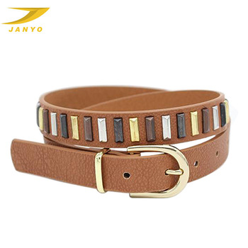 JANYO professional wholesales custom western fashion metal belts for women lady