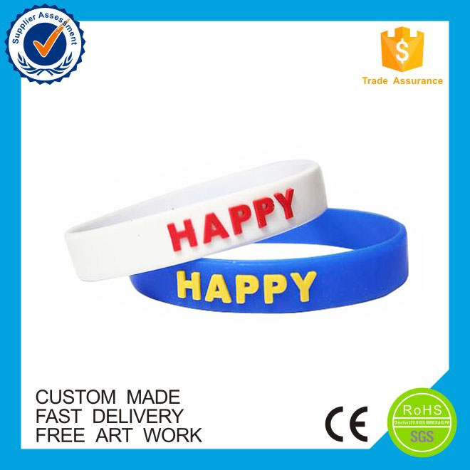 Business gifts OEM/ODM custom embossed silicon wristband