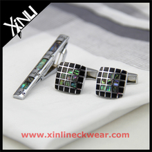 Custom Manufacturers with Shell Cufflinks and Tie Clip Sets