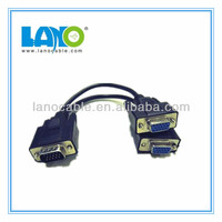 New! y splitter 2 way vga cable female to male