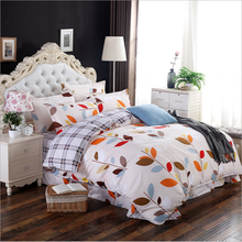 New Simple Stylish Leaf Design 4 quilt cover soft cotton sheets