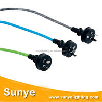 High quality electrical wire with switch and plug 3 pin plug top