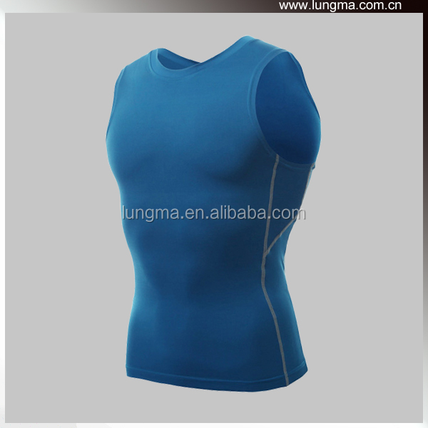 Mens Sleeveless Shirt Sports Wear Gym Compression Tank Top
