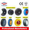 flat free tire 4.00-8 wheel barrow wheel rubber coated steel wheel