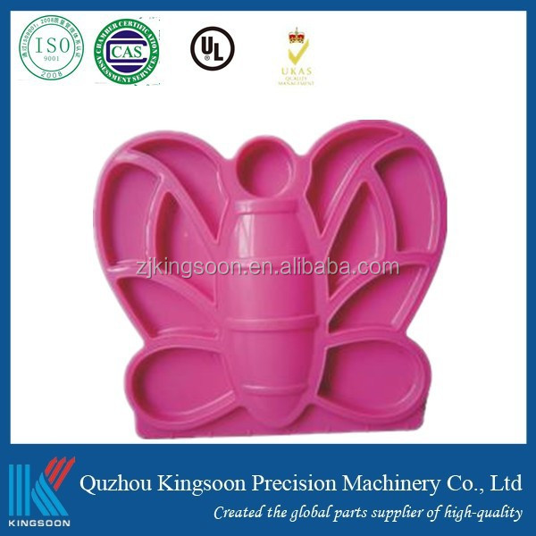 custom 3d pp abs pe plastic molded parts butterfly hairpin with lkm hasco mould base