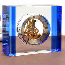 Factory Wholesale High Quality Decoration Crystal Desk Clock for Engraving
