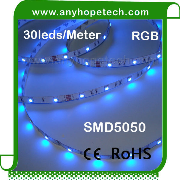 Cheap promotional 24V 30ledm led dmx rgb ribbon