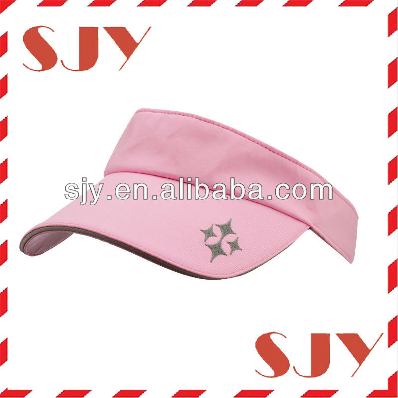100%cotton fabric ourt door wide brim kids custom sport visor