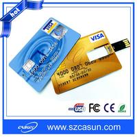 Manufactory wholesale card type usb flash drive with cheap price