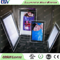 A0 A1 A2 A3 A4 2835SMD Frameless Super bright led crystal light box frame