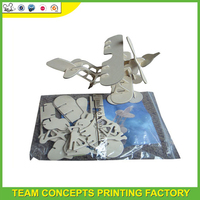 Hot promotional cartoon 3d puzzle airplane