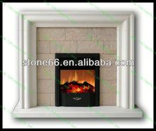 free standing glass fireplace