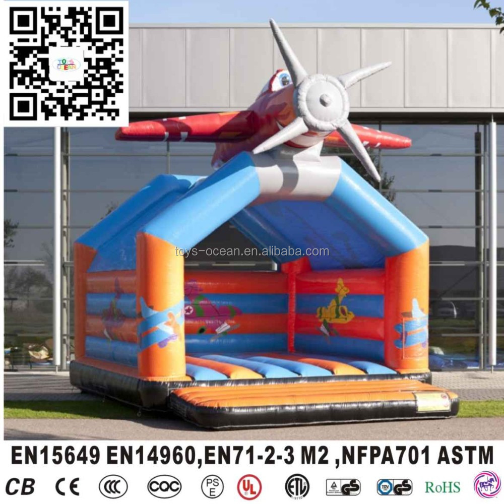Air plane inflatable bouncers,cheap giant inflatable bouncer,jumping bouncy castle
