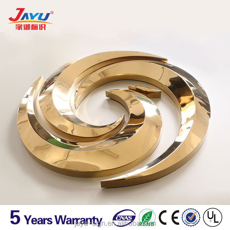 High quality custom 3d metal logo,gold souvenir gift with 10 years warranty