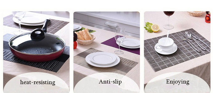 eco-friendly plastic woven straw wholesale placemats