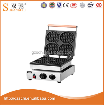 Alibaba China Electric Square Single Plate Waffle Maker cake machine stainless steel waffle making machine For Wholesale