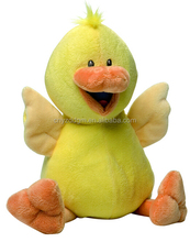 Promotion Duck plush toy big eyes animal toy stuffed soft plush yellow duck