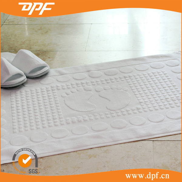 Cotton jacquard bath mat/hotel floor towel