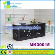 Glass office furniture restaurant black slate counter top