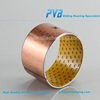 porous bronze bush,SF2Y plain dry bushing,POM composite oil free bearing