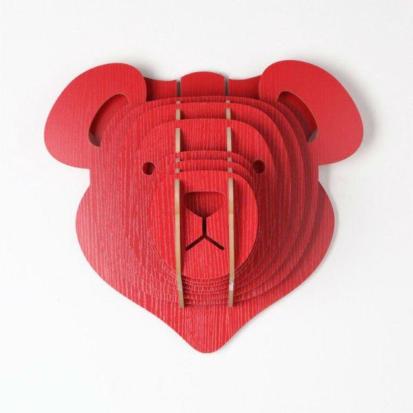 Decoraci n del hogar 3d lindo oso de peluche cabeza for Decoracion hogar 3d