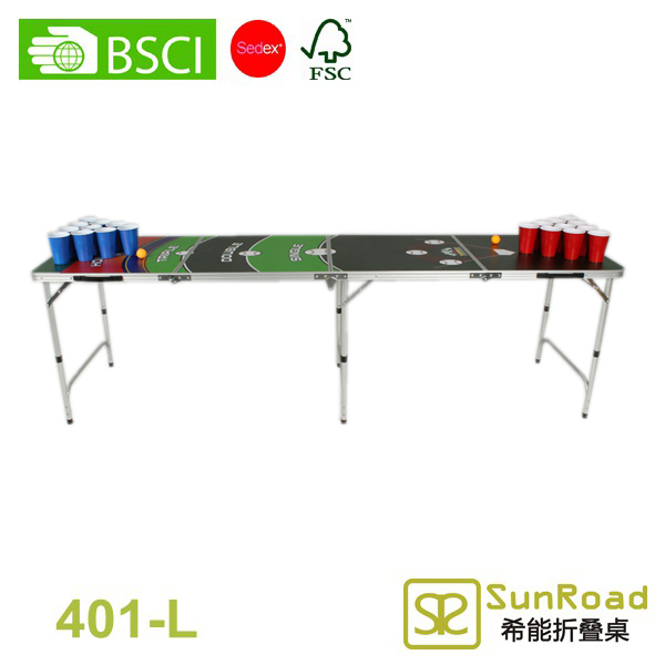 8ft 2015 Folding Vintage Beer Pong Table